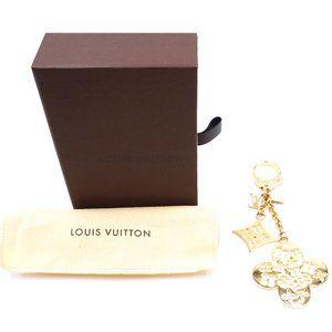 LV Gold Signature Monogram Flower Key Charm
